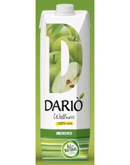 Сок, Dario Wellness Яблоко, 1,0 л, т/пак/12